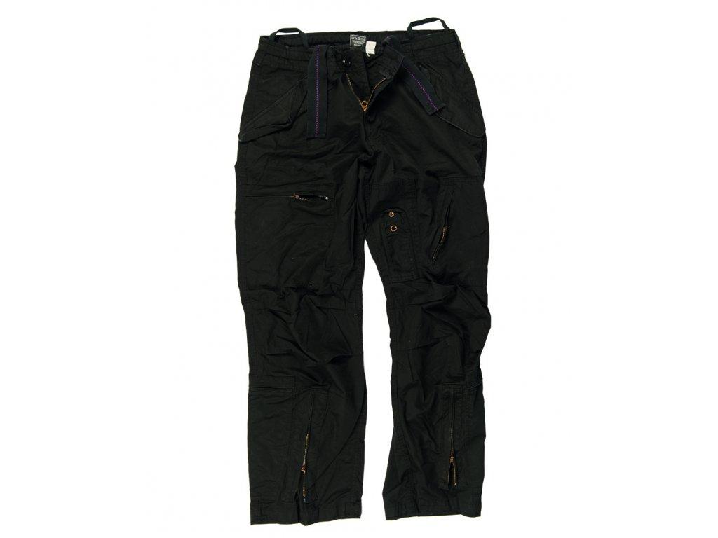Kalhoty PILOT předeprané ČERNÉ
