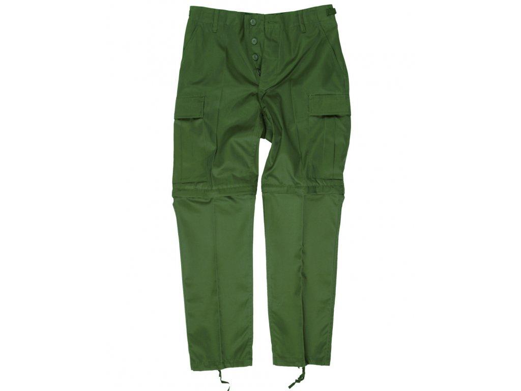 Kalhoty BDU ZIP-OFF odepínací nohavice ZELENÉ