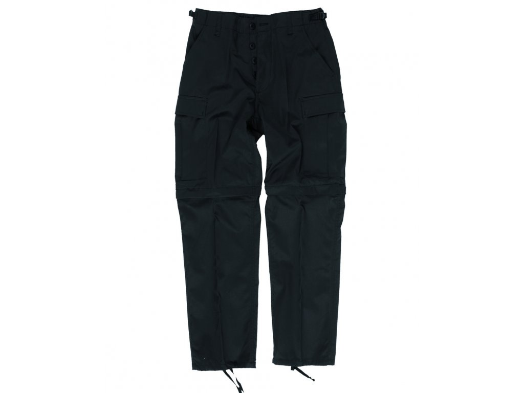 Kalhoty BDU ZIP-OFF odepínací nohavice ČERNÉ