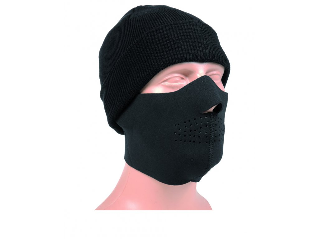 Maska obličejová NEOPREN 3mm ČERNÁ