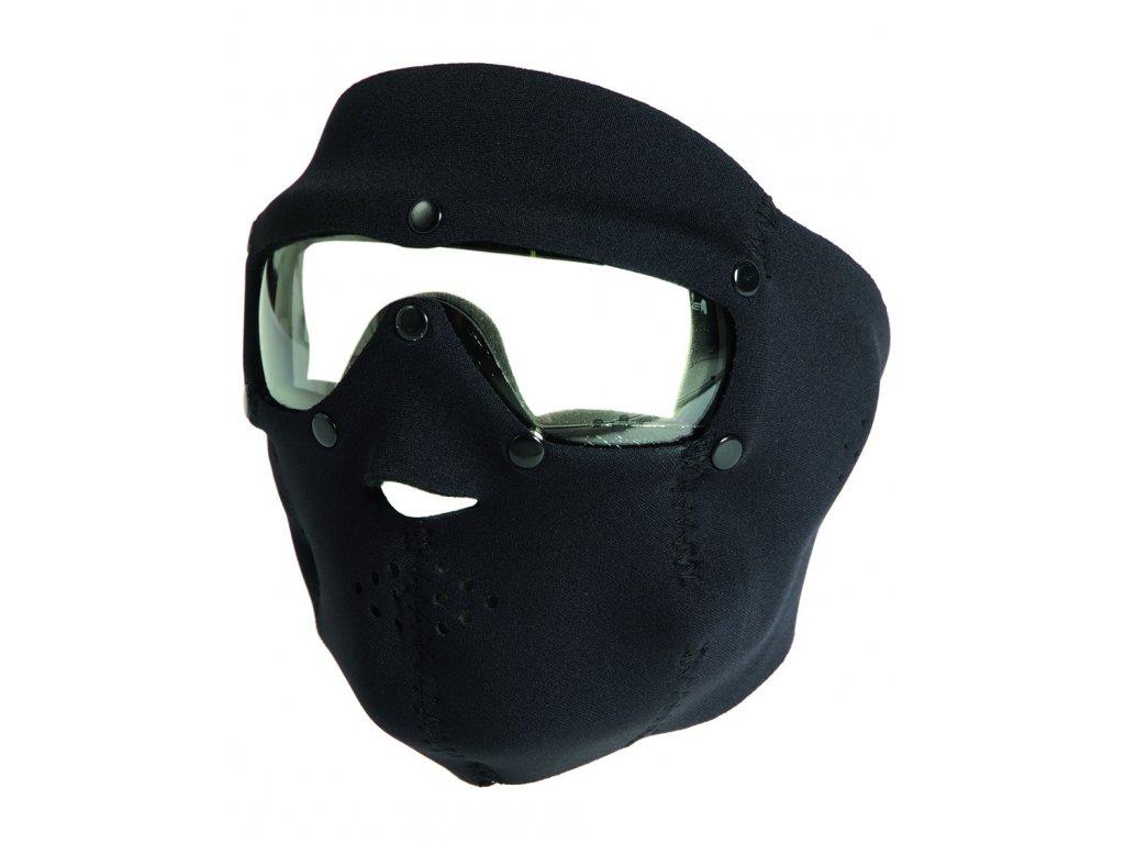 Maska obličejová neoprén BASIC ČIRÁ SKLA ČERNÁ
