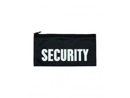 Nápis na záda 'SECURITY' VELKÝ na zip ČERNÝ