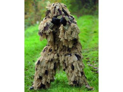 Převlek maskovací GHILLIE SUIT OAK LEAF 3D DESERT