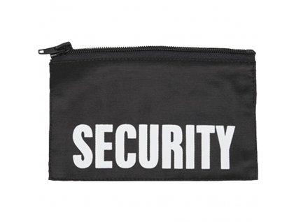 Nápis na hruď 'SECURITY' MALÝ na zip ČERNÝ