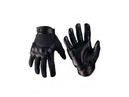 Taktické rukavice Kožené/Kevlar, Černé