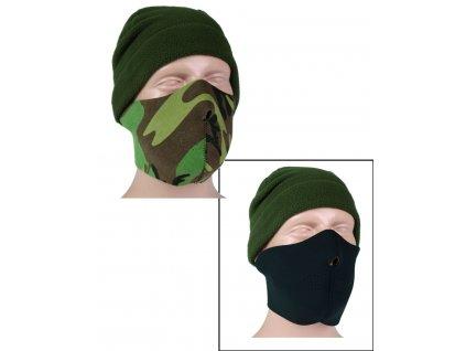 Maska obličejová (polomaska) NEOPREN 3mm ČERNÁ-WOODLAND