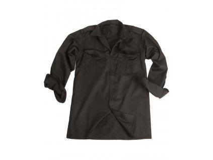 Košile SERVIS dlouhý rukáv na knoflíky ČERNÁ