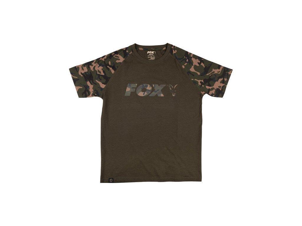 Triko Fox Raglan t-shirt khaki/camo S