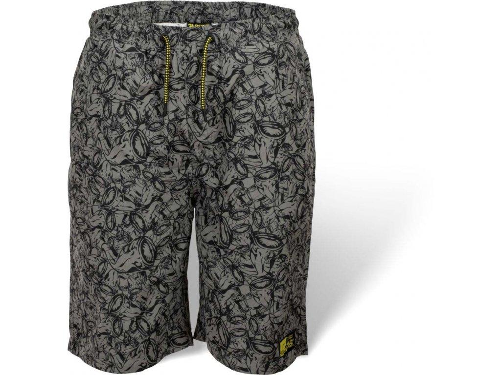 Plavky Black Cat Beach Shorts S