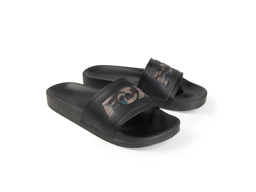 Pantofle Fox Sliders Black 45