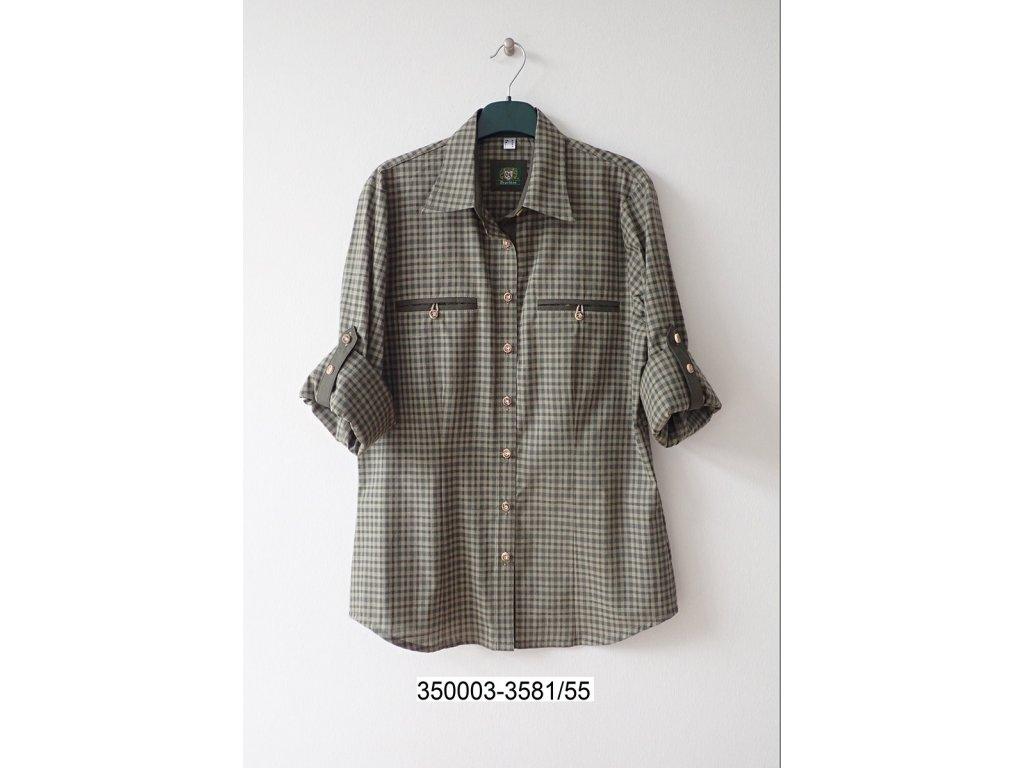 612c18b06d2 Dámská košile Trachten zelená kostka - Bohemialov