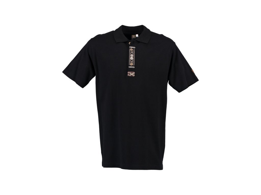 Trachten tričko černé s výšivkou