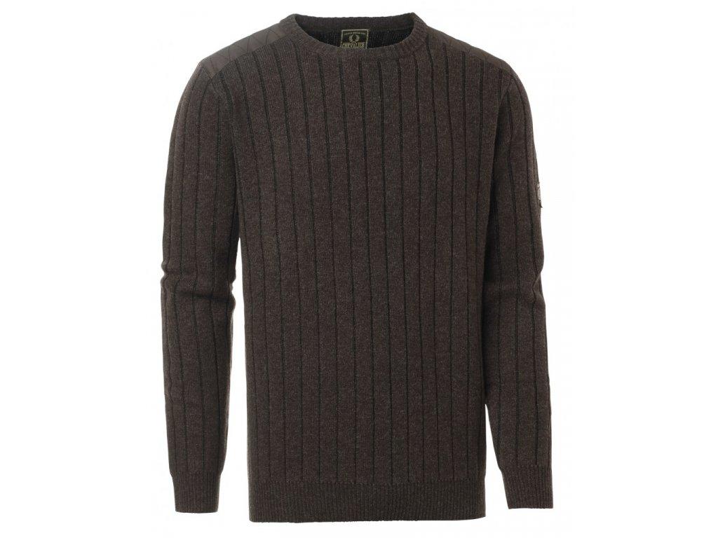 5496B Fjord Plattern Sweater Brown Gallery1 820x1024
