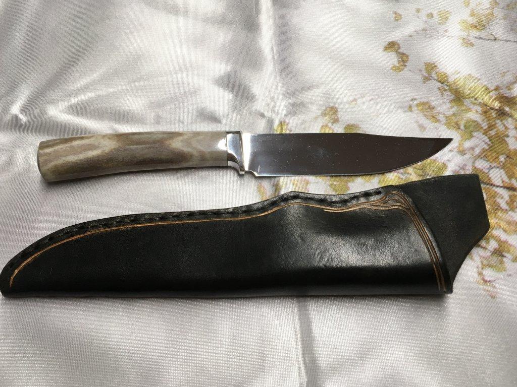 Nůž Sobí paroh, Malachit Mládek 32