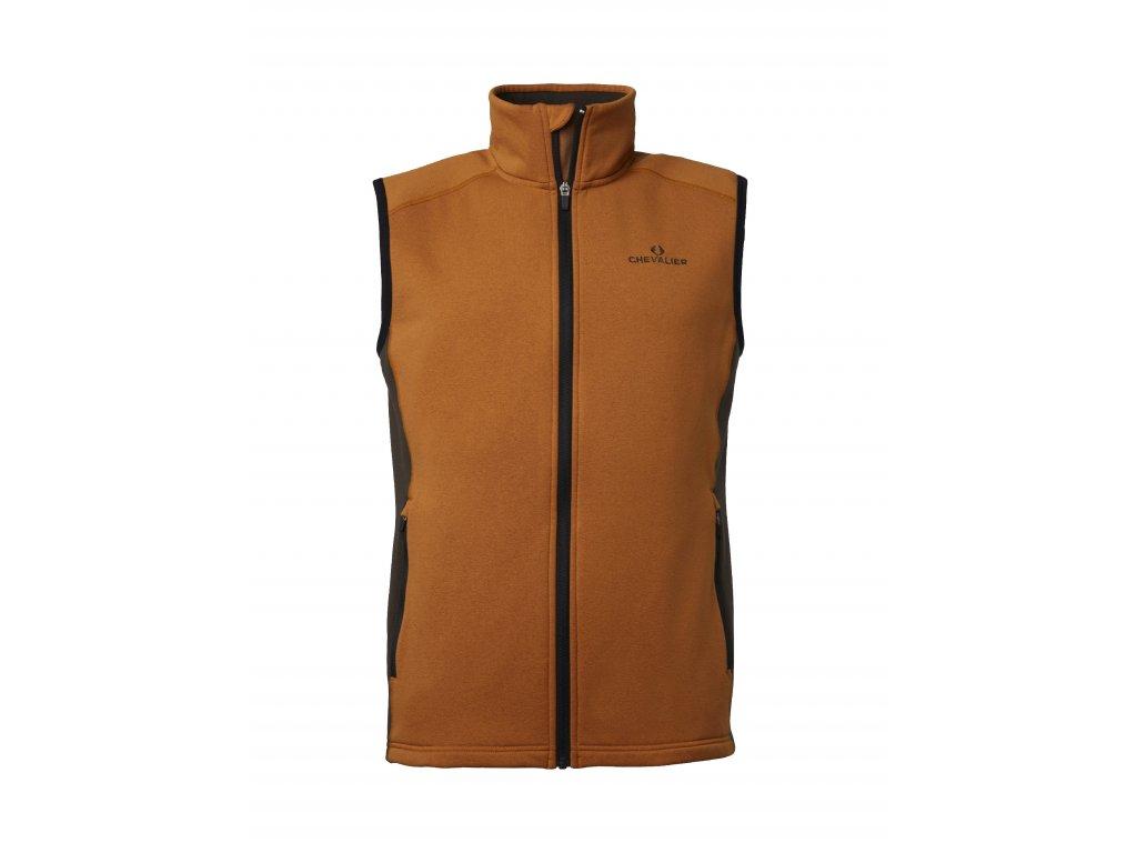 Lenzie Fleece Vest Orange/Brown