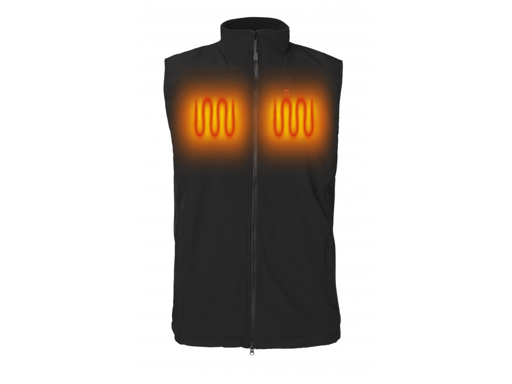 NH Softshell Vest Black Heat