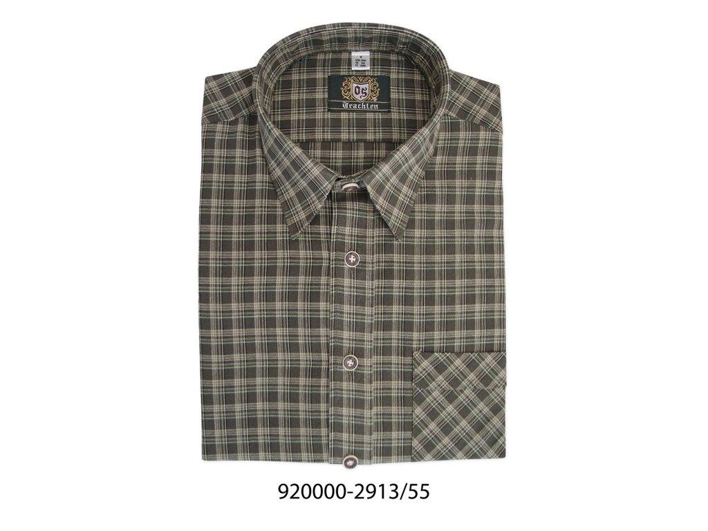 13-920000-2913. Pánská klasická kostkovaná košile s dlouhým rukávem. b5a80e5a57