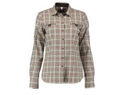 Trachten dámská košile, flanel, dl.r., zeleno červená