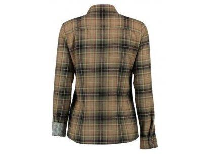 Trachten dámská košile, flanel, dl.r., oranžová