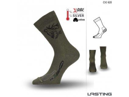 Lasting ponožky X-Static CXJ 620 zelená