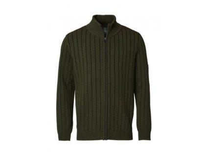 Svetr Chevalier Fjord Plated Wool Cardigan Green