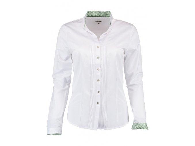 Trachten dámská bílá košile stojáček