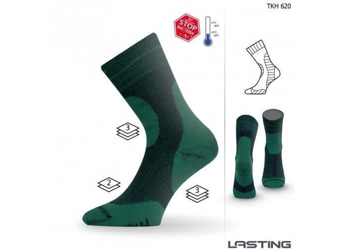 Lasting ponožky TKH 620 zelená
