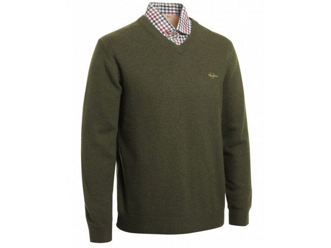 Gary Wool Pullover w Patch green