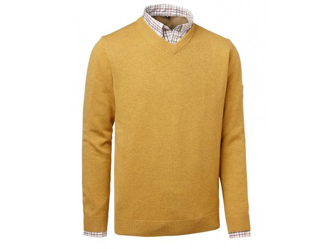 Gary Wool Pullover w Patch Yellow