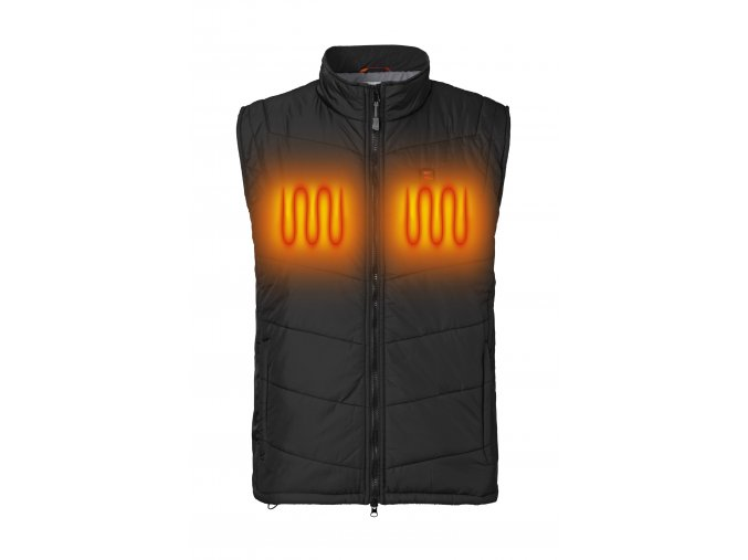 NH Quiltet Vest Black Heat
