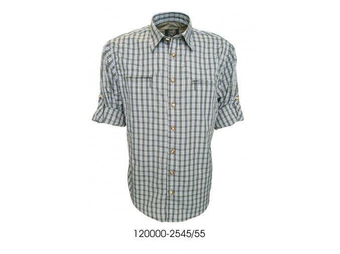 Trachten pánská košile zip krátký rukáv