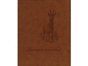 lovecka kronika hneda obalka imitace kuze 0
