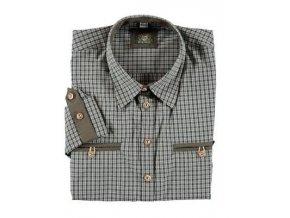 Dámská košile Trachten ohrnovací rukáv zelená