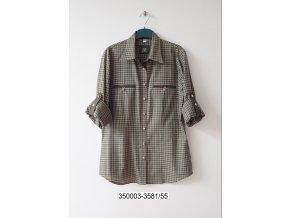 Dámská košile Trachten zelená kostka