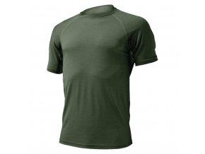 Lasting vlněné merino triko QUIDO 6262 zelená