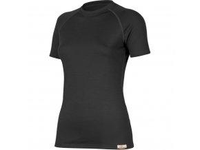 Lasting vlněné merino triko ATEA 9090 černá
