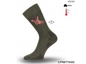 Lasting bavlněné ponožky LFSS 620 zelená
