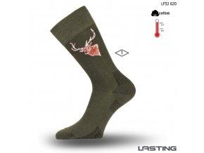 Lasting bavlněné ponožkyLFSJ 620 zelená