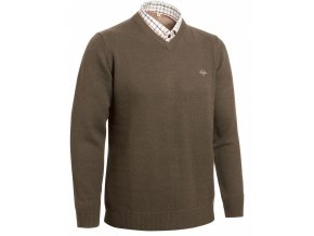 Gary Wool Pullover w Patch brown