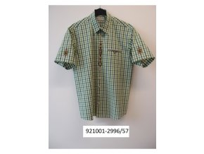 Trachten pánská košile krátký rukáv zdobená