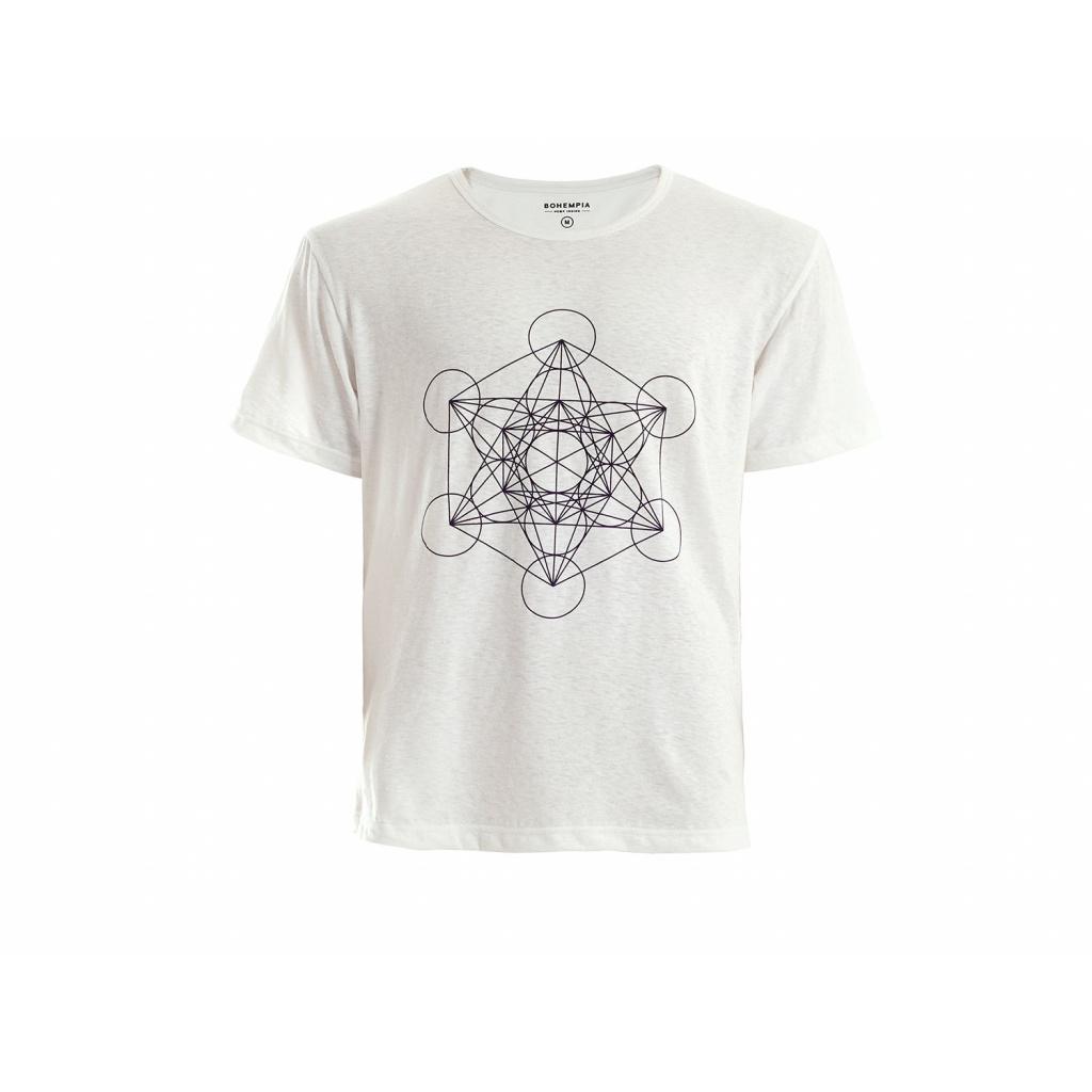 Pánské konopné tričko HIRZO White Metatron