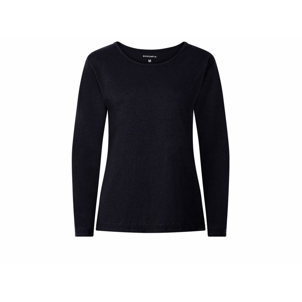 Dámské konopné tričko s dlouhým rukávem BELKA Black