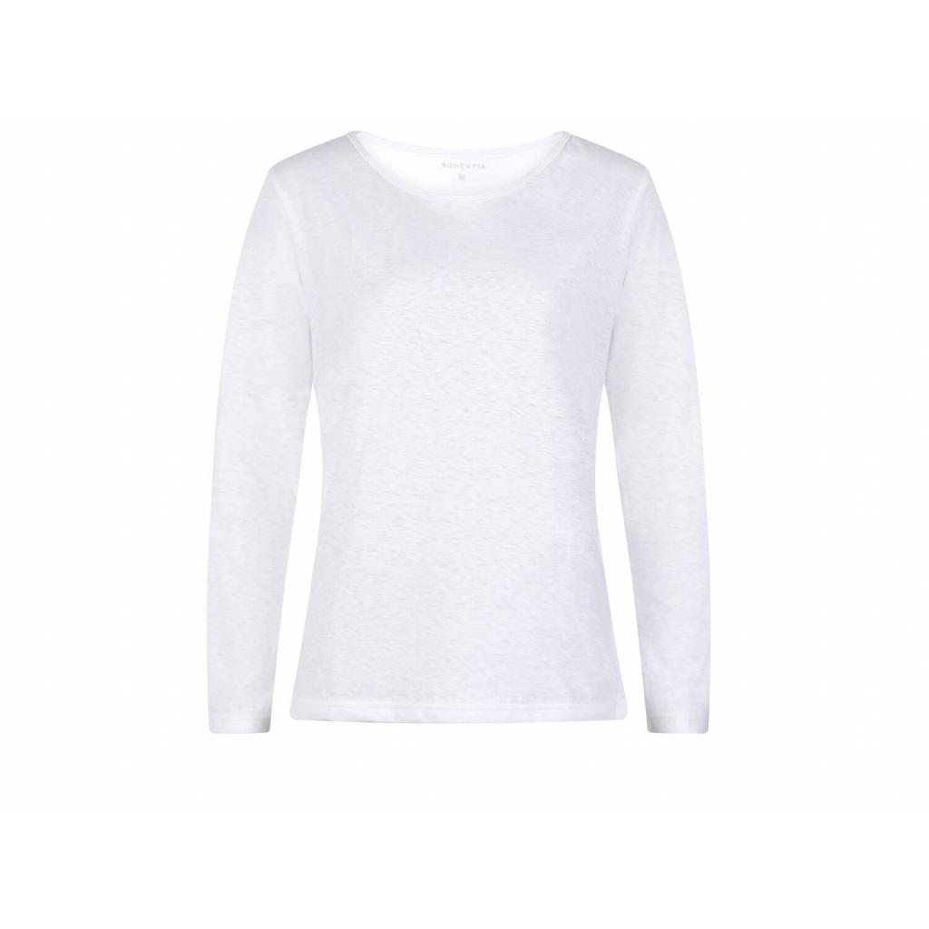 Dámské konopné tričko s dlouhým rukávem BELKA White
