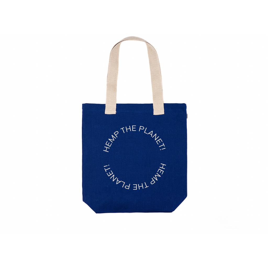 """Konopná taška BORA Navy Blue """"Hemp the planet"""""""