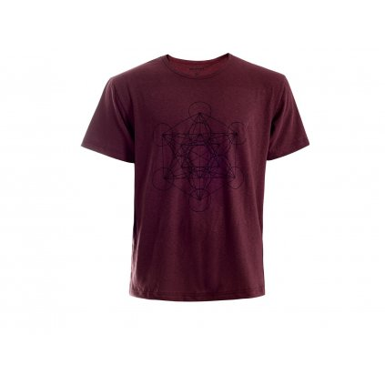 Pánské konopné tričko HIRZO Burgundy Metatron