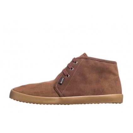 Zimní veganské barefoot boty ZAVID Chukka Brown-Gum