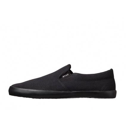 Konopné barefoot tenisky VIKLA Slip-on Black-Black