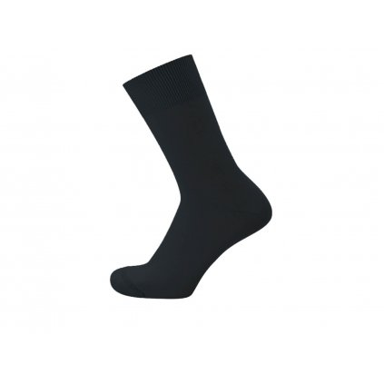 Hladké konopné ponožky LUNA Black