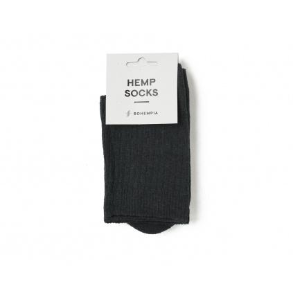 Froté konopné ponožky SUDA Black