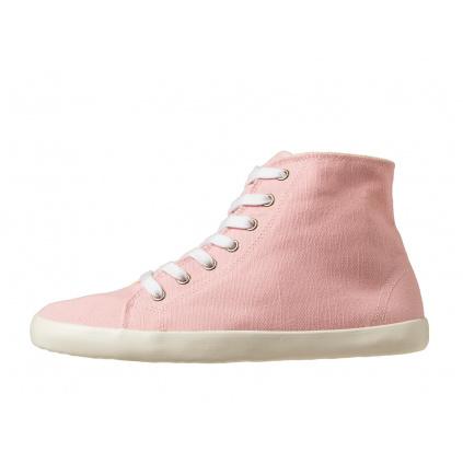Konopné barefoot tenisky ORIK High Top Pink-White